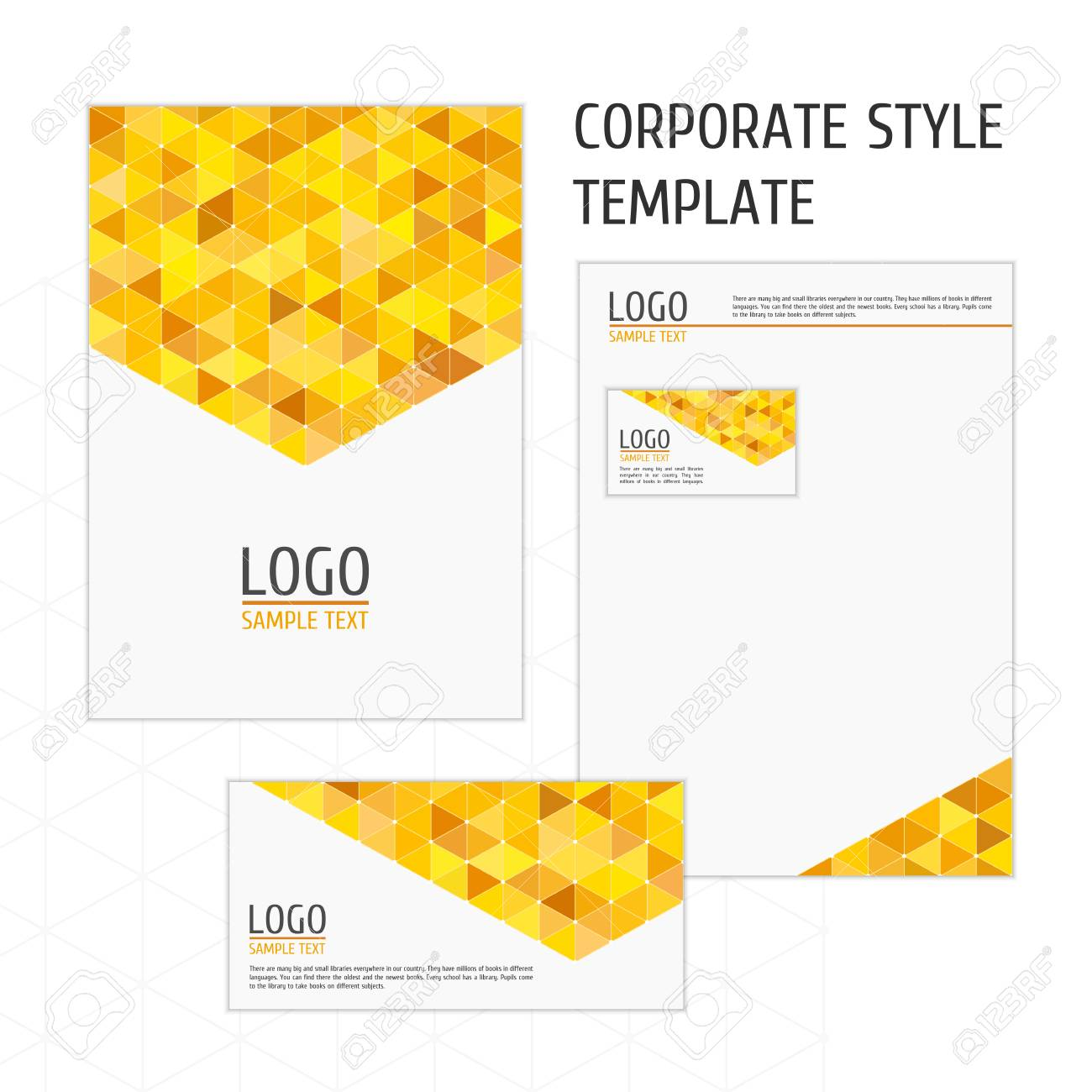 Corporate Identity Template With Digital Elements. Modern Design ...