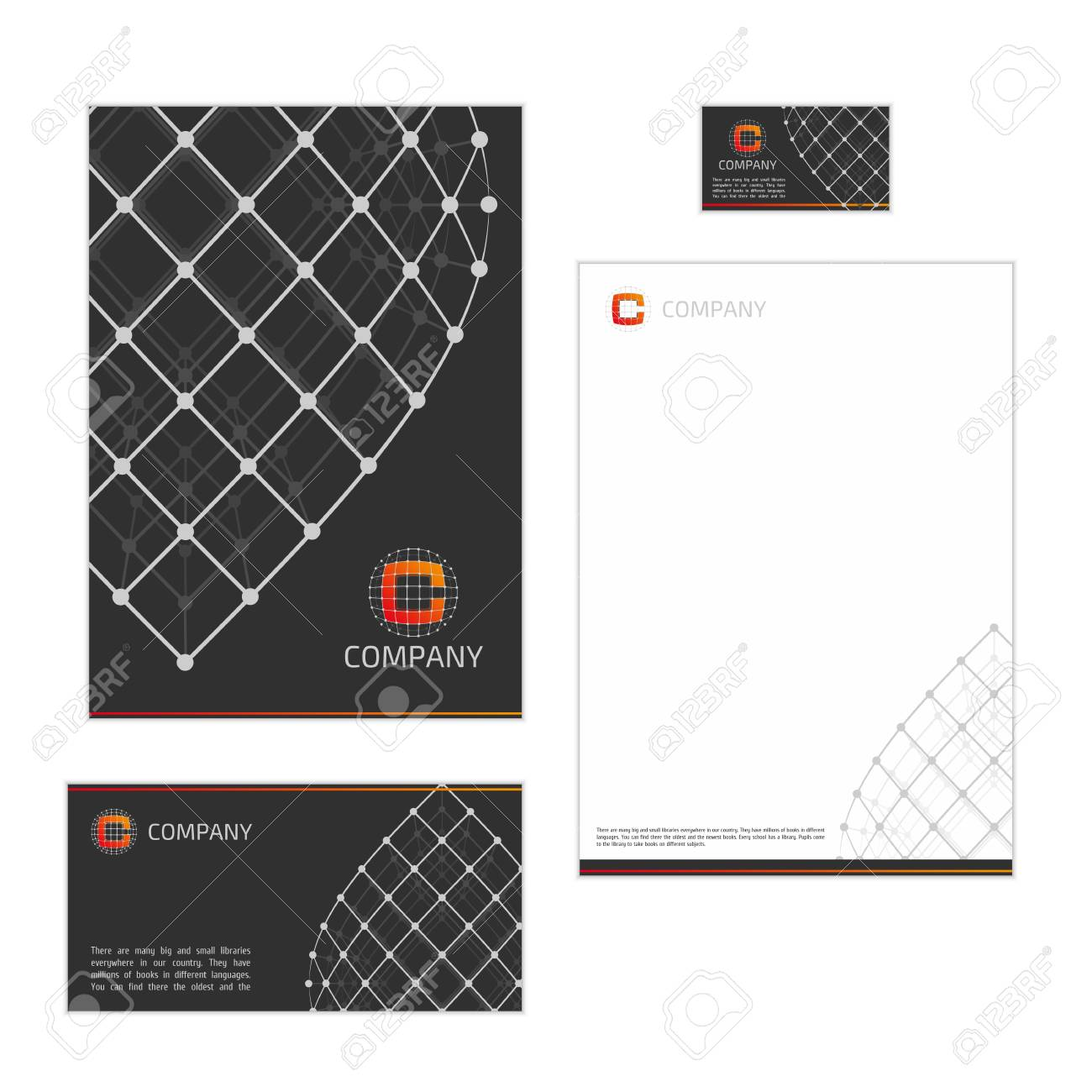 Corporate identity template with digital elements modern design corporate identity template with digital elements modern design elements of corporate identity the folder spiritdancerdesigns Choice Image