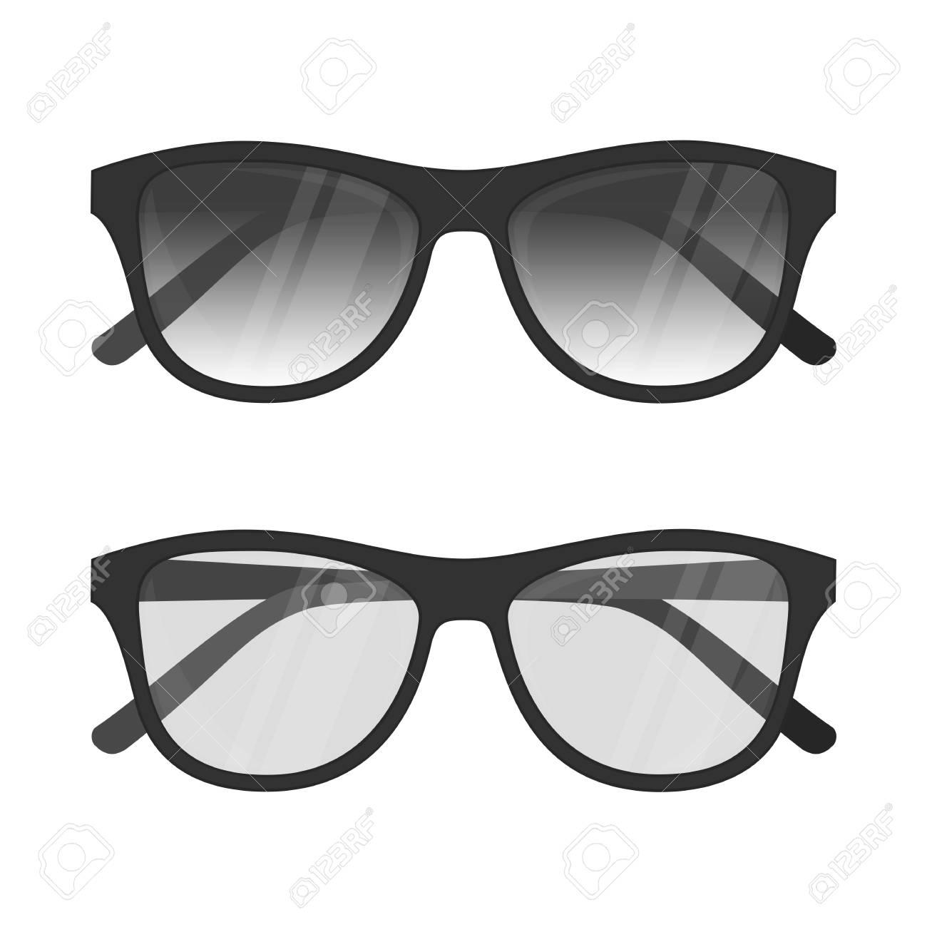 Ilustración Del Vector De Gafas De Sol Y Gafas De Lectura Con Marco ...