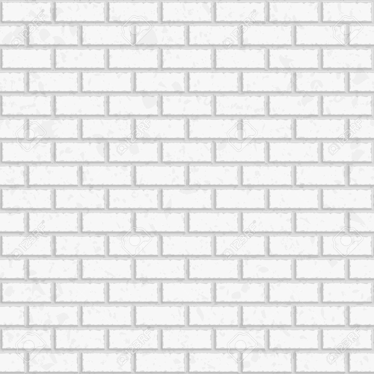 White Seamless Brick Wall Vector Seamless Texture Pattern Royalty Free Cliparts Vectors And Stock Illustration Image 61194756