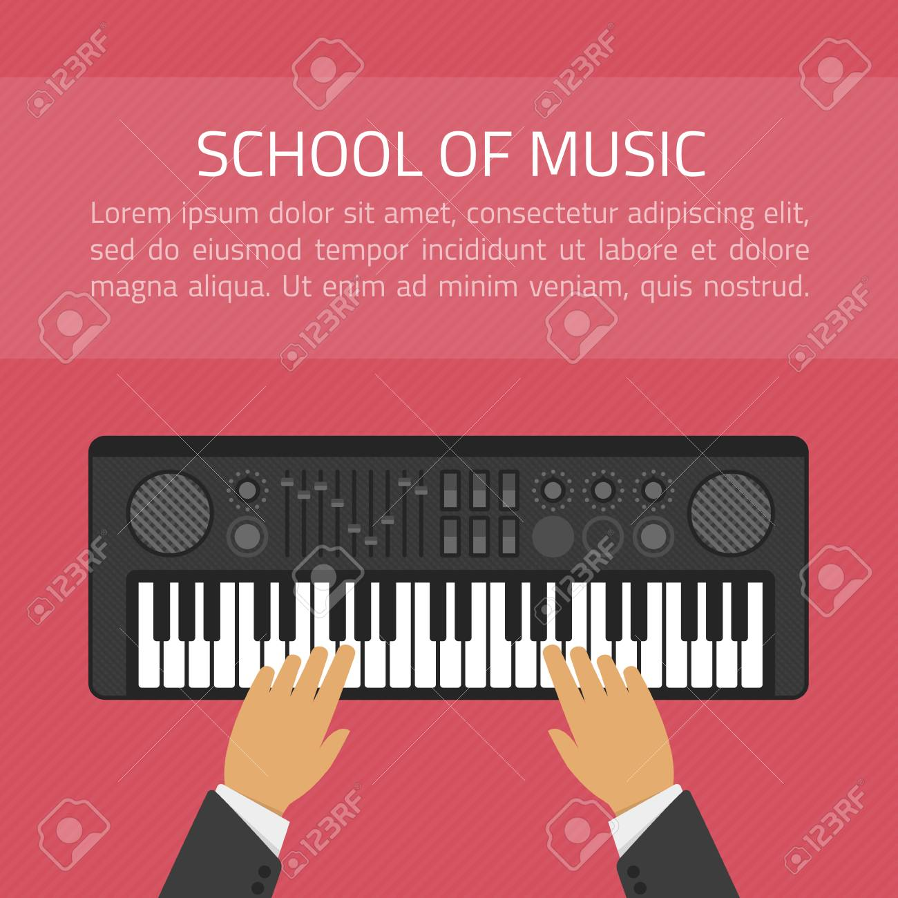 The concept infographic or an advertising banner for the music