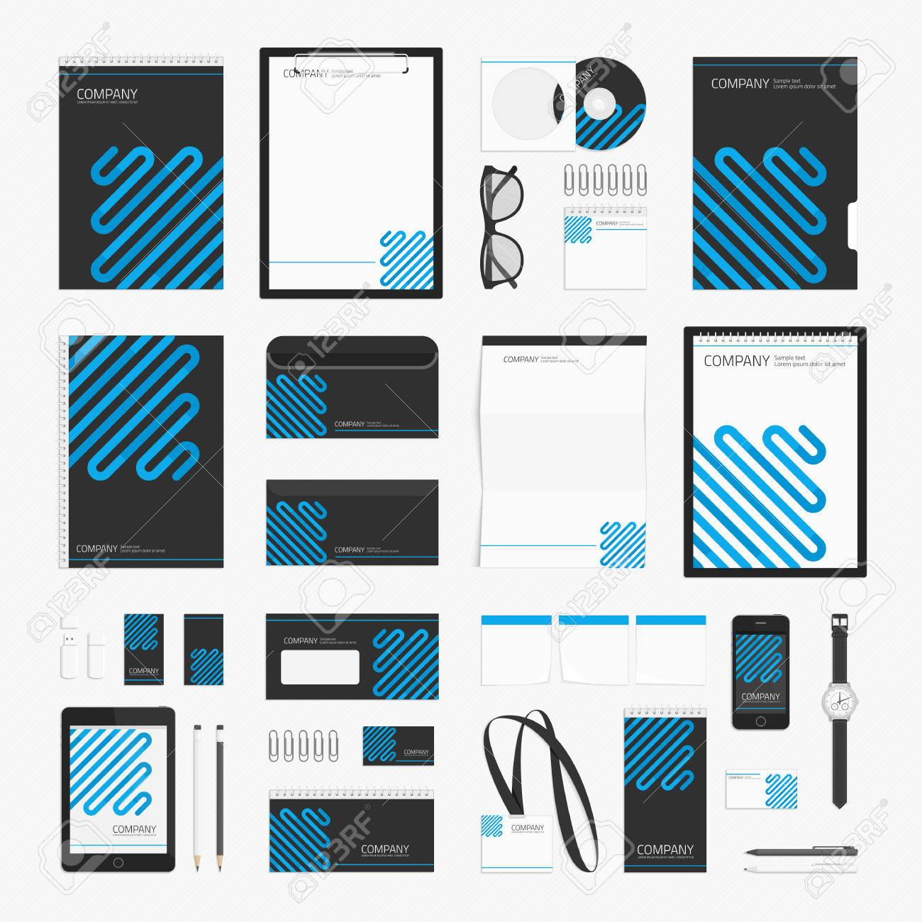 Modern Corporate Identity Template For Your Business. Stationery ...