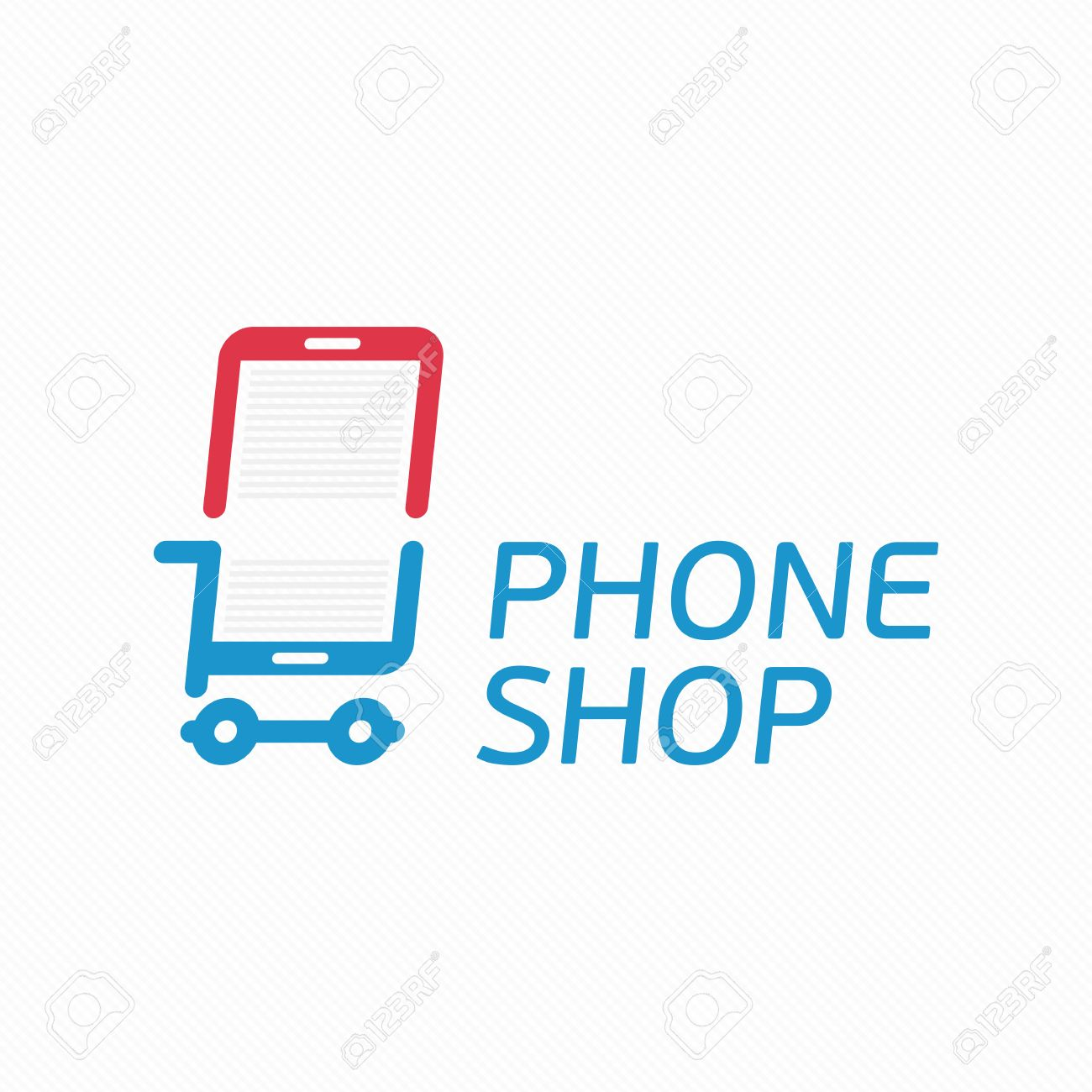 Vector Abstract Logo Template Mobile Phone Shop Smart Phone