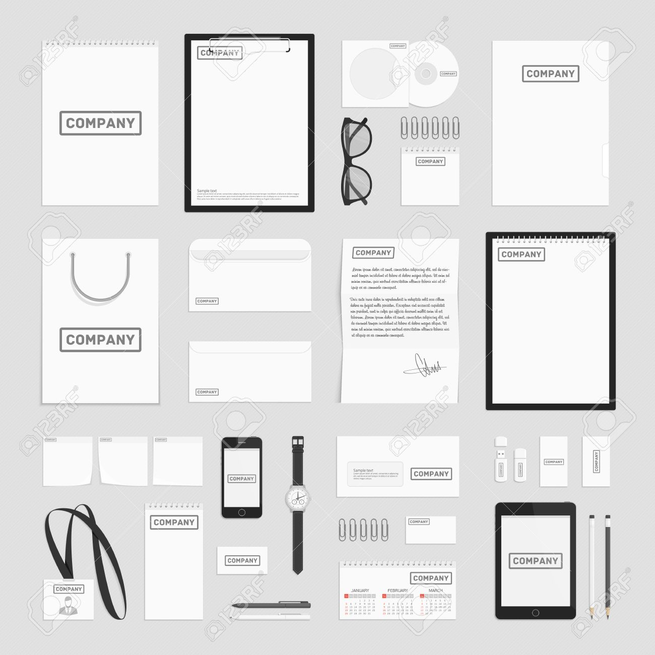 Blank corporate identity template set documentation for business blank corporate identity template set documentation for business vector modern company style for spiritdancerdesigns Choice Image
