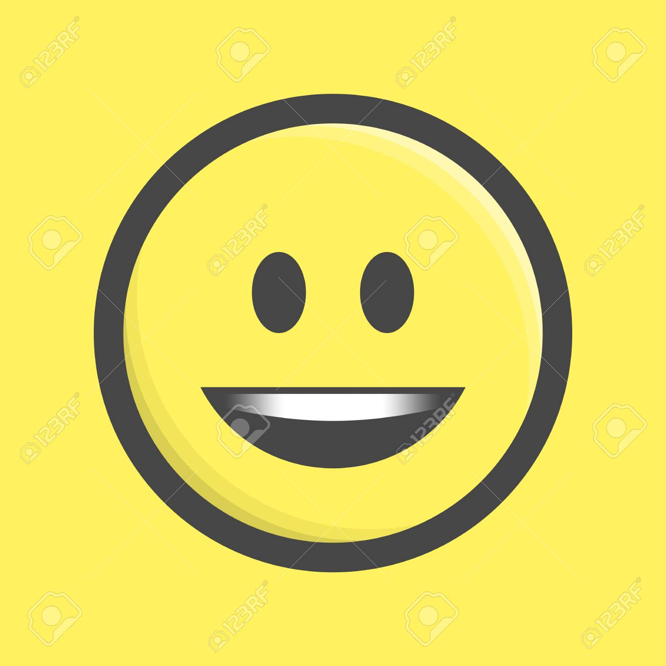 smile vector icon smiling emoticon in flat style isolate on