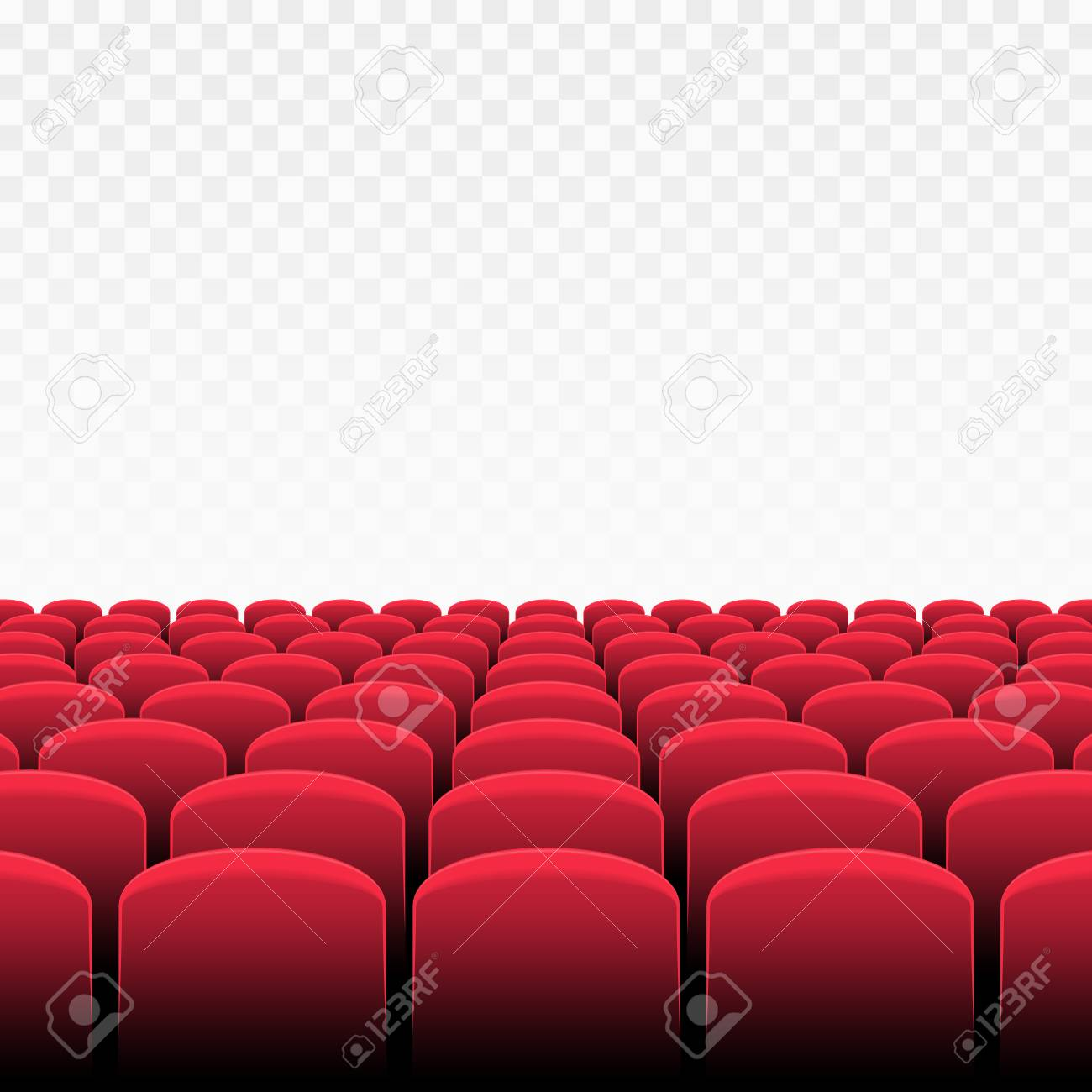 Rows Of Red Cinema Or Theater Seats On Transparent Background Royalty Free Cliparts Vectors And Stock Illustration Image 92745936