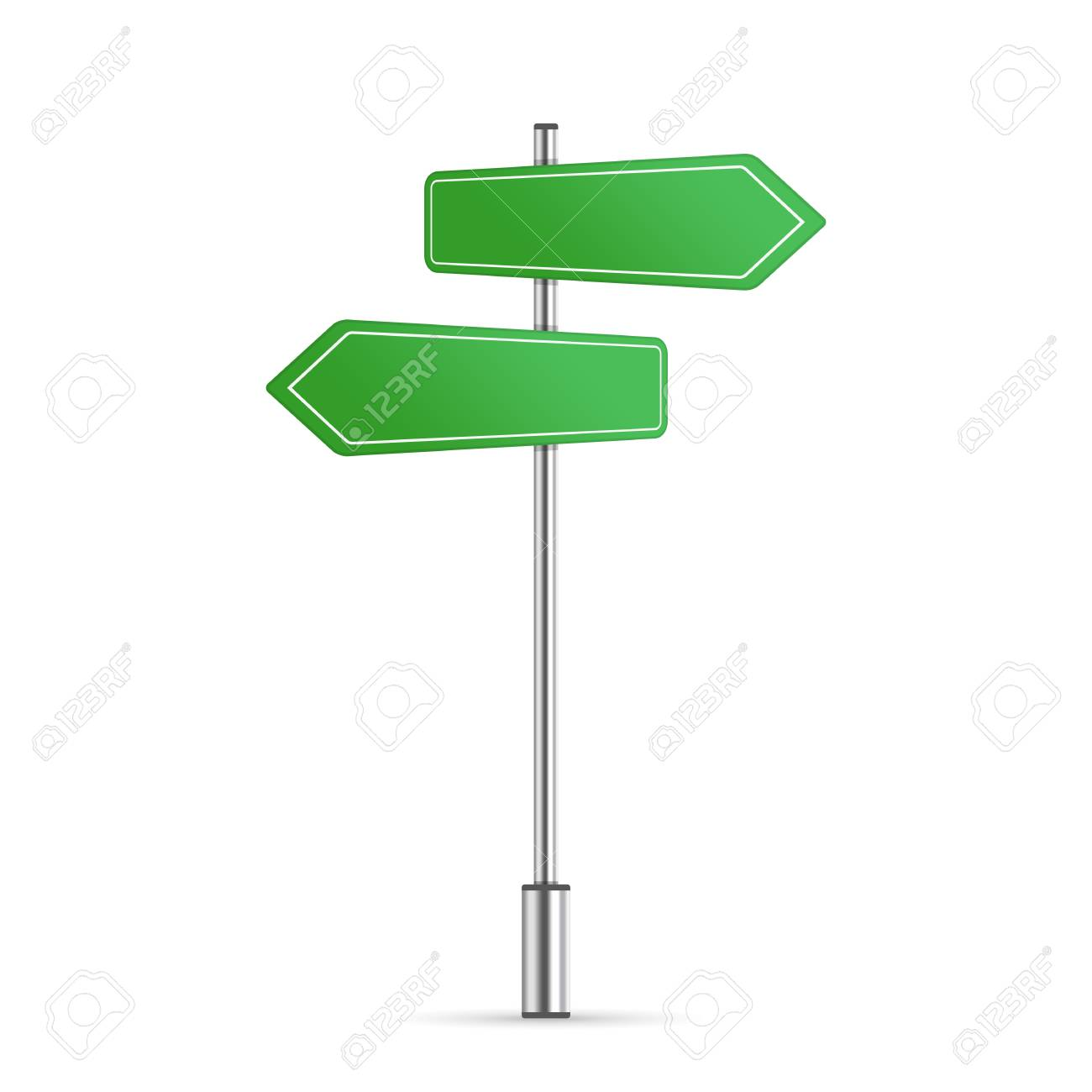 street sign template with place for text. blank road signs isolated..  royalty free cliparts, vectors, and stock illustration. image 113600020.  123rf