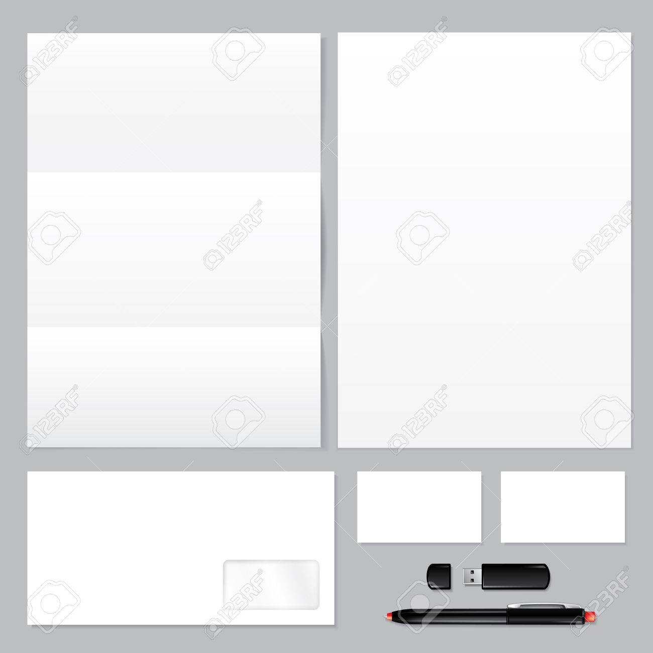 Set Of Corporate Identity Templates Blank, Envelope, Paper ...