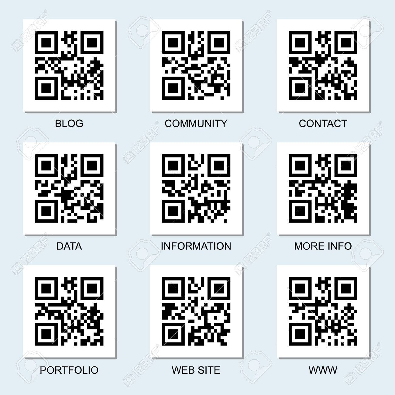 Vector Collection Of Internet Related Qr Codes For Your Design