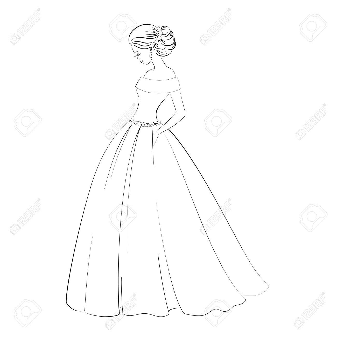 Outline Wedding Dress