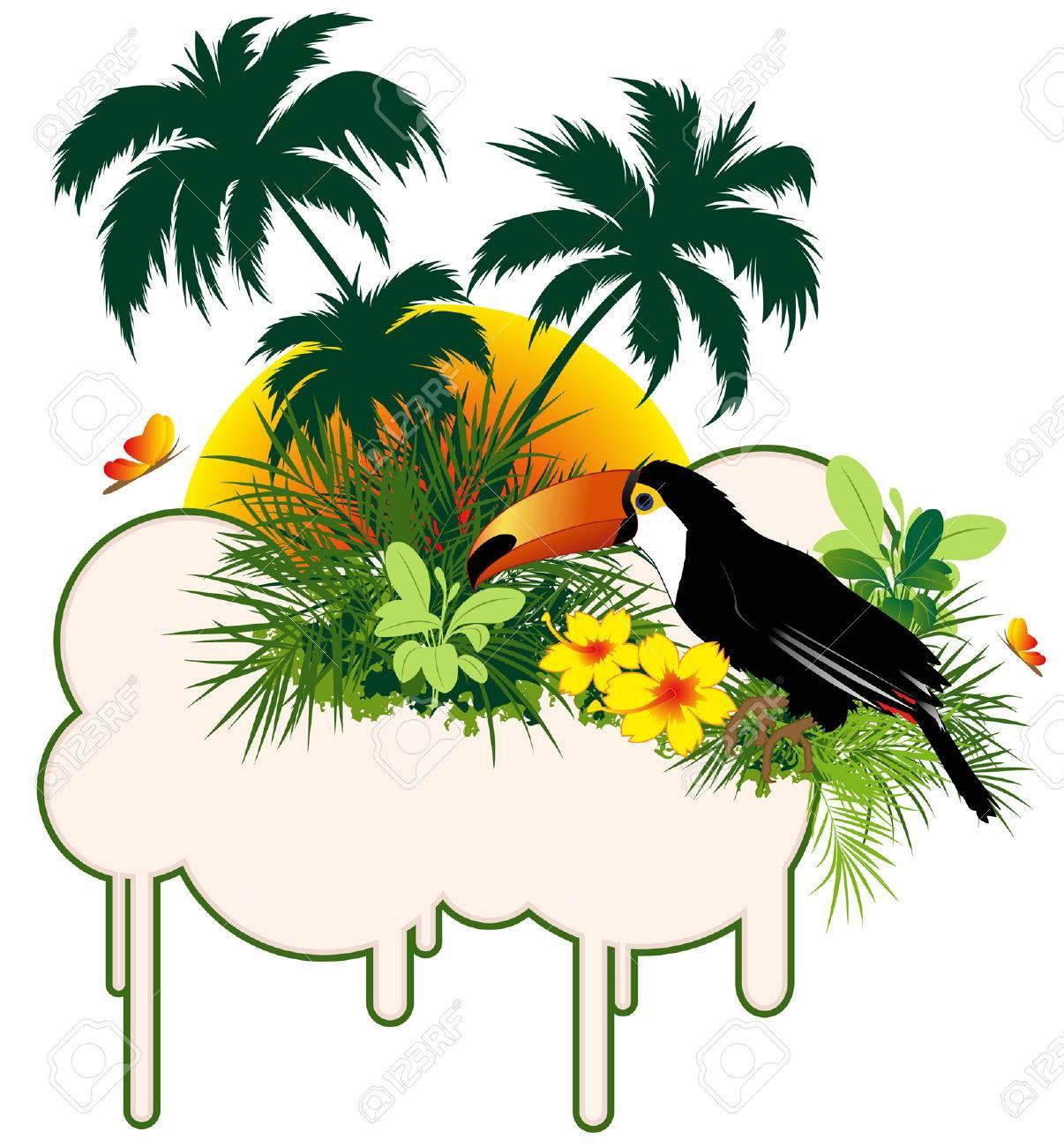 Cartoon Bird Blank Banner stock vector. Illustration of white - 61146089