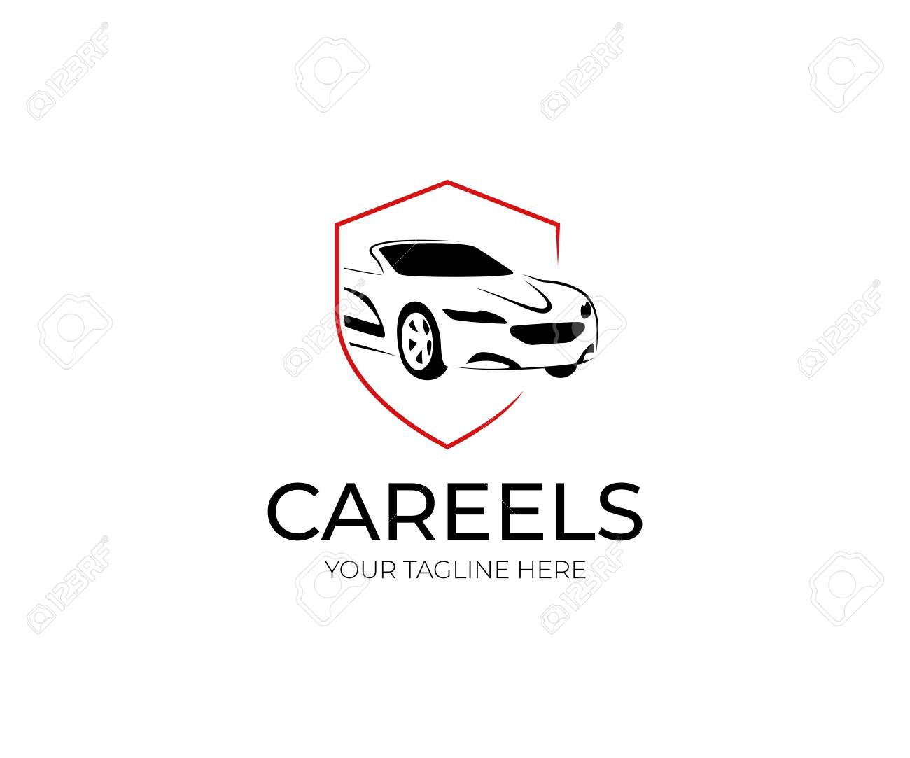 Car And Shield Logo Template. Automobile Vector Design. Transport ...