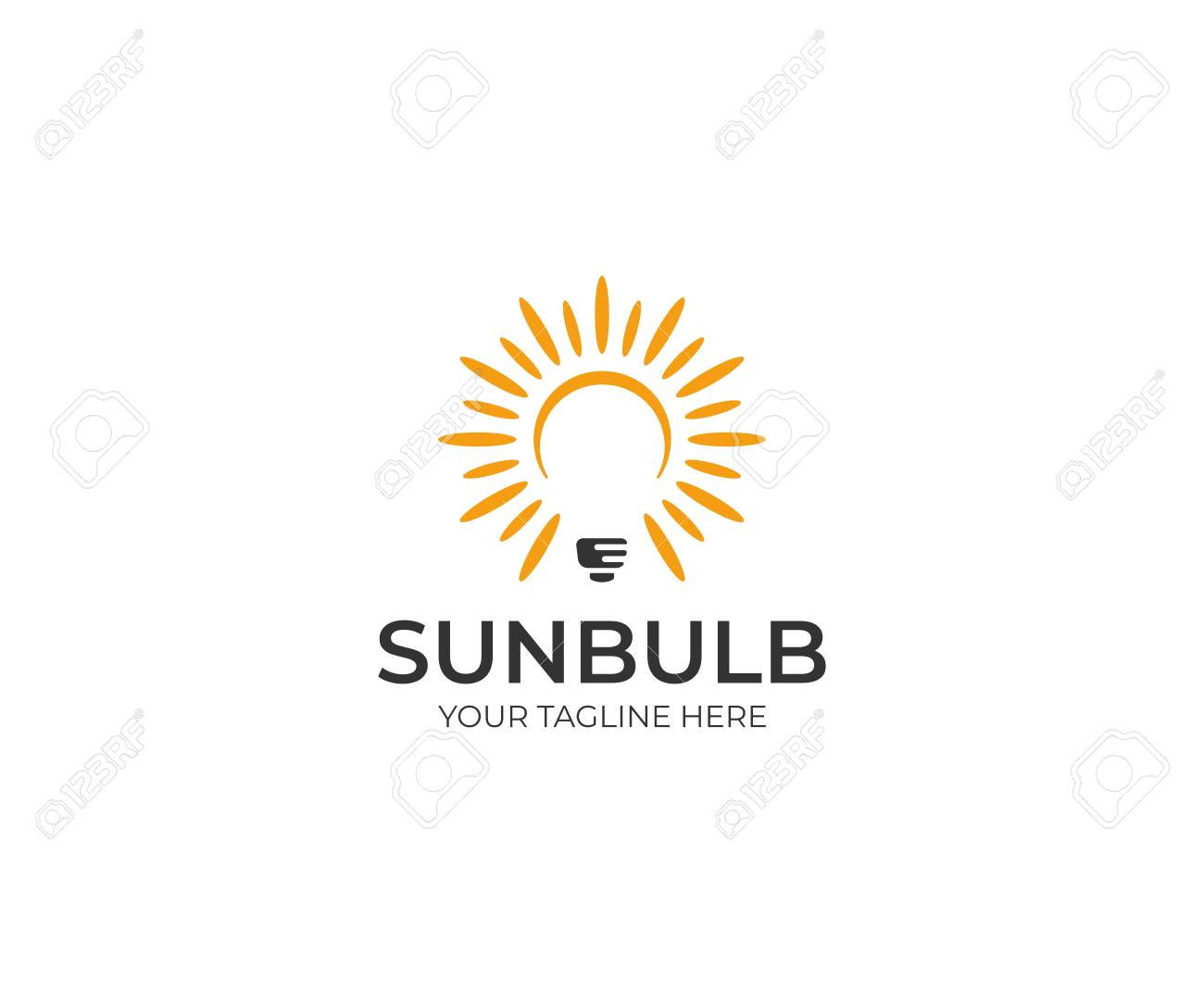 Sun And Lightbulb Logo Template Led Vector Design Electricity Royalty Free Cliparts Vectors And Stock Illustration Image 91280289