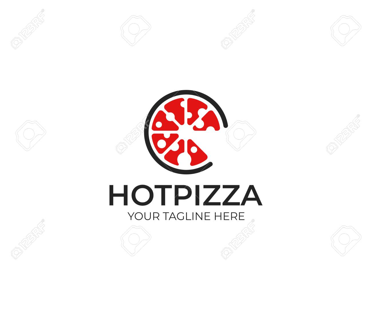 Pizza Template Fast Food Vector Design Bakery Products