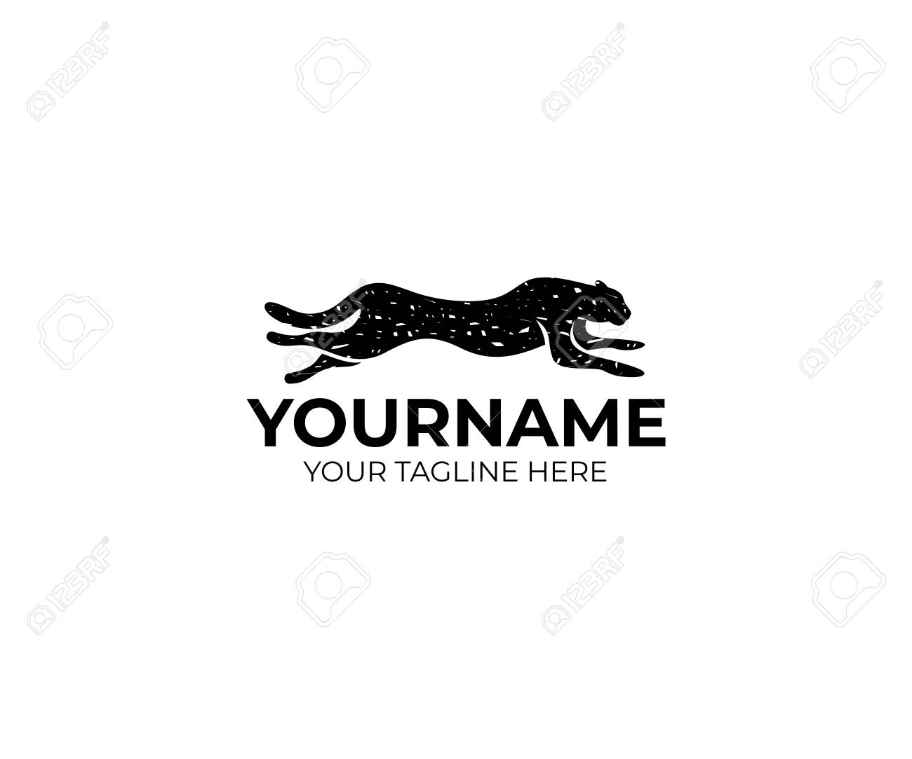 running cheetah logo template animal vector design predator royalty free cliparts vectors and stock illustration image 93158246 running cheetah logo template animal vector design predator