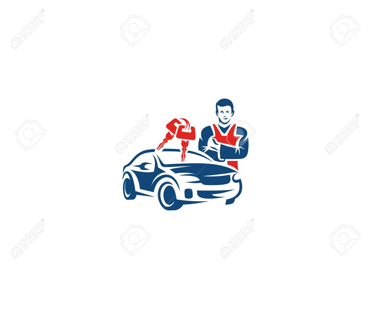 Car Key Service Logo Template Auto Key Locksmith Vector Design Royalty Free Cliparts Vectors And Stock Illustration Image 94457583