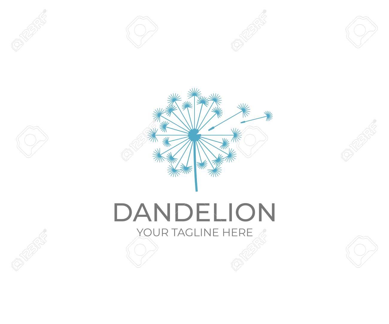 Dandelion logo template. Taraxacum flower vector design. Blowball illustration - 95888810