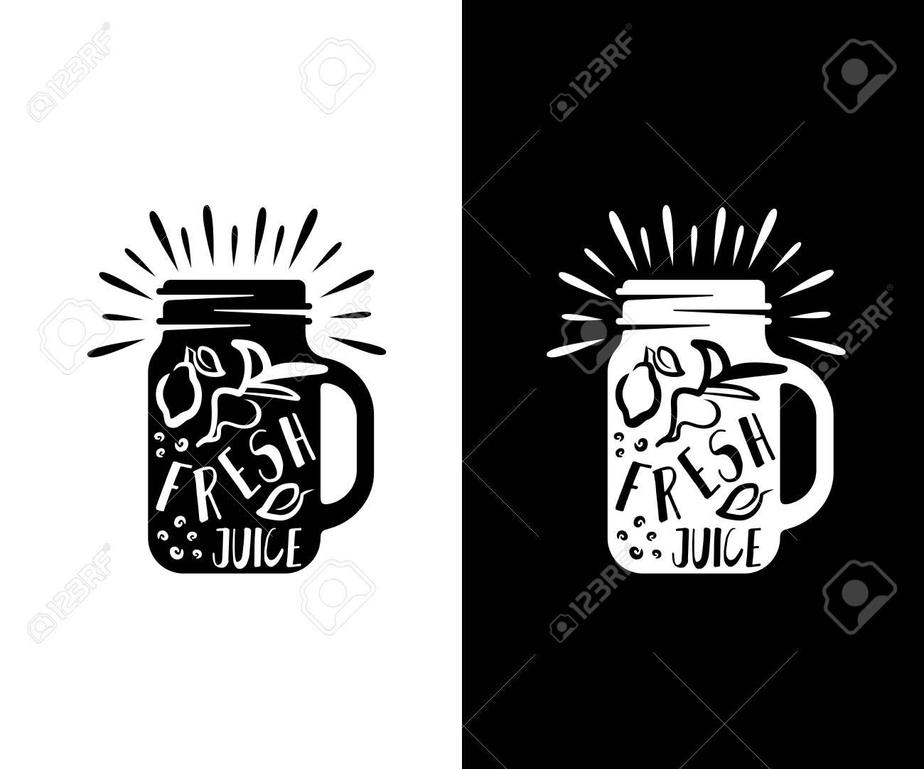 114441536 juices jar mason retro and vintage logo design food drink beverages smoothie cafe and bar vector des