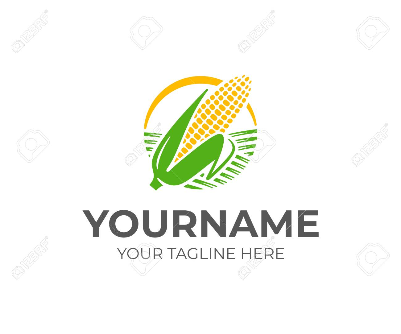 ear of corn logo design maize crop vector design corn farming royalty free cliparts vectors and stock illustration image 122375550 123rf com