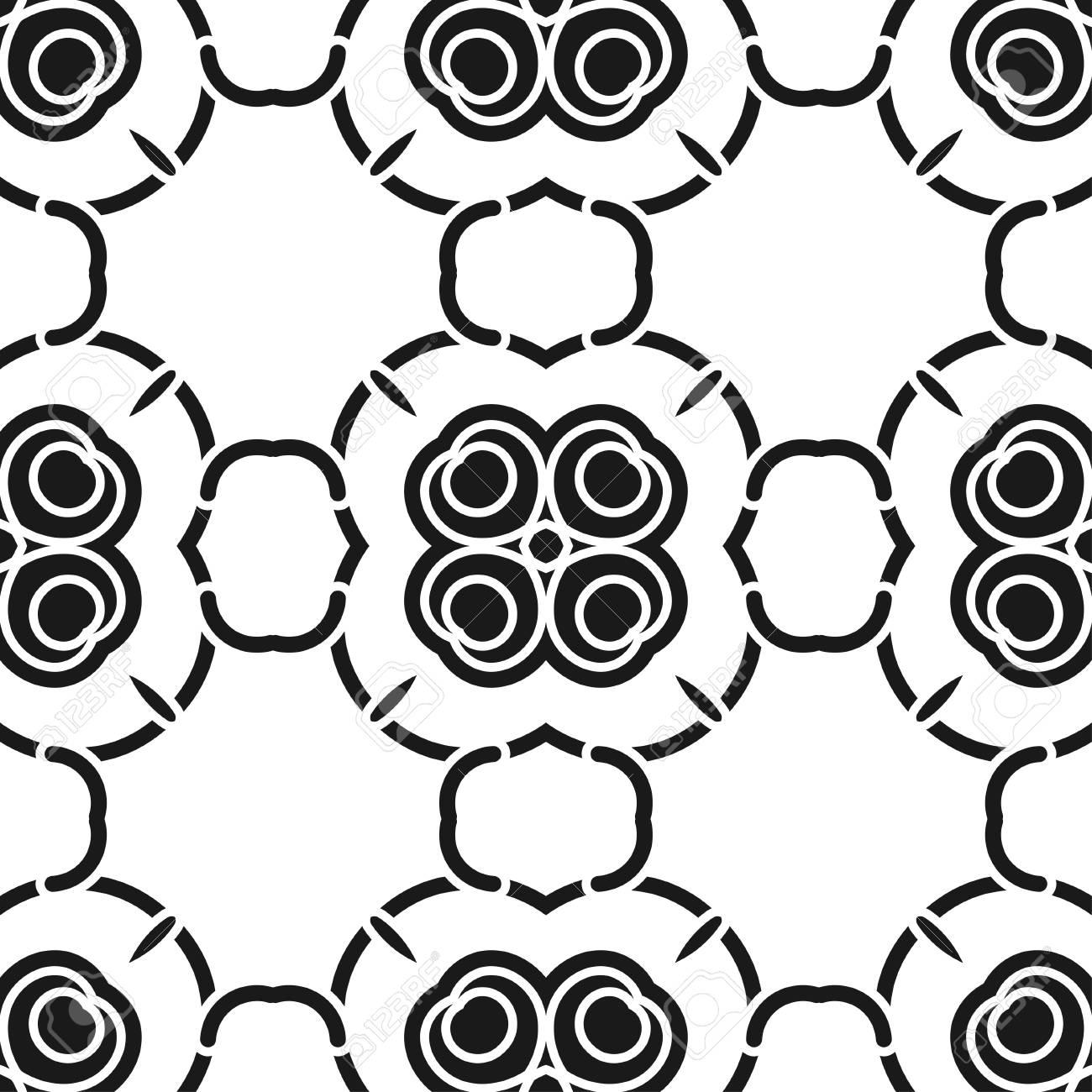 Wunderbar Standard Bild   Zusammenfassung Nahtlose Schwarz Weiß Farbe Muster Für  Tapeten Und Hintergründe. Vektor Vorlage Kann Für Design Von Tapeten,  Stoff, ...