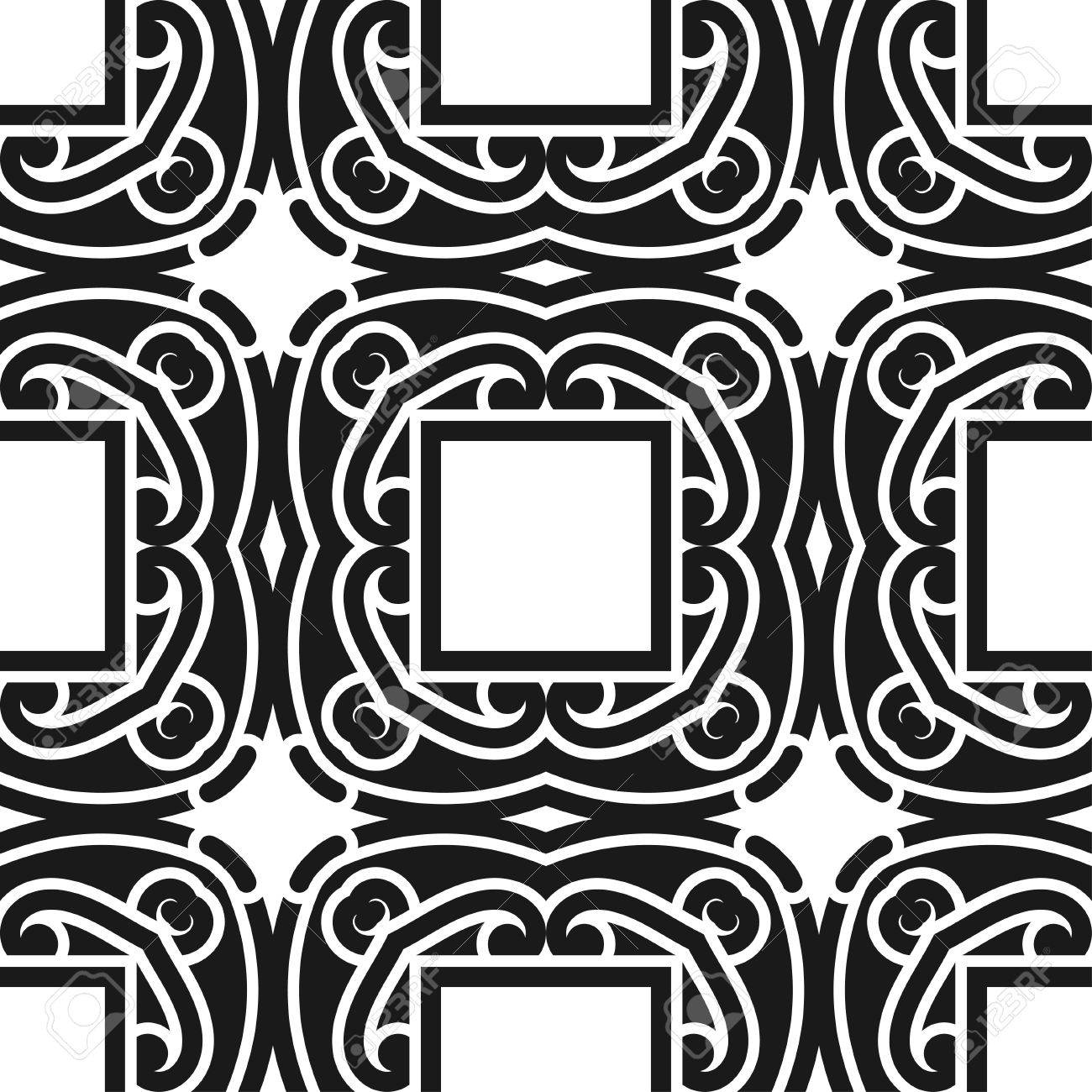 Standard Bild   Zusammenfassung Nahtlose Schwarz Weiß Farbe Muster Für  Tapeten Und Hintergründe. Vektor Vorlage Kann Für Design Von Tapeten,  Stoff, ...