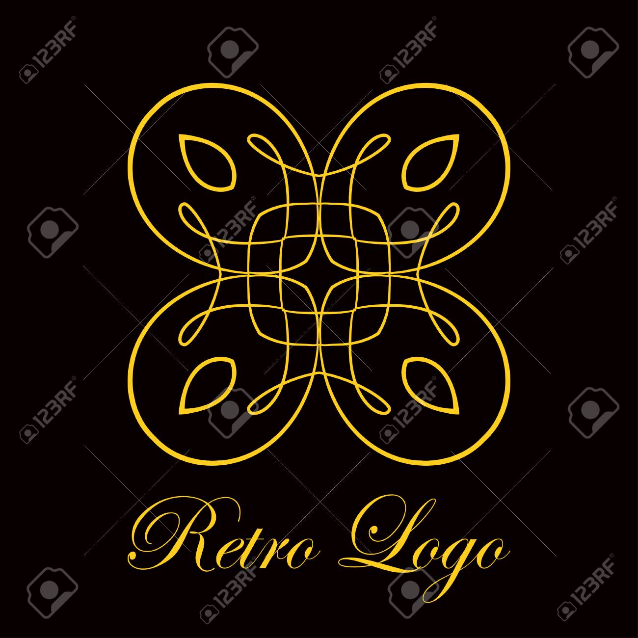 vintage logo template vector logotype element retro label