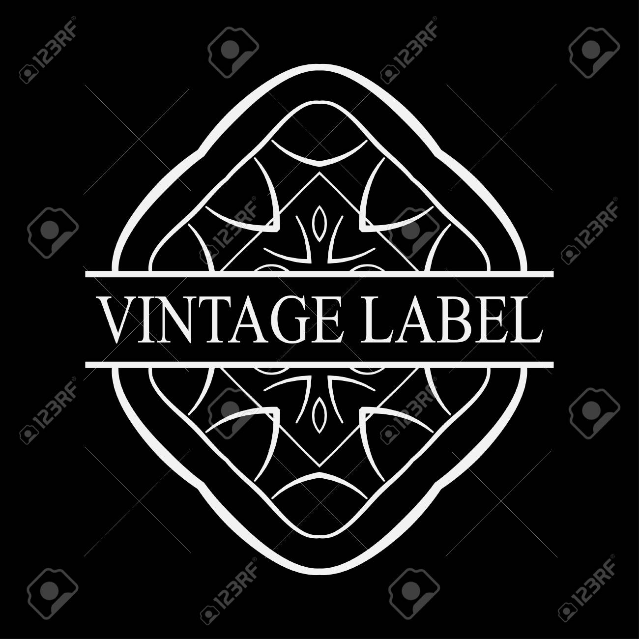 vintage logo template for labels vector logotype element retro