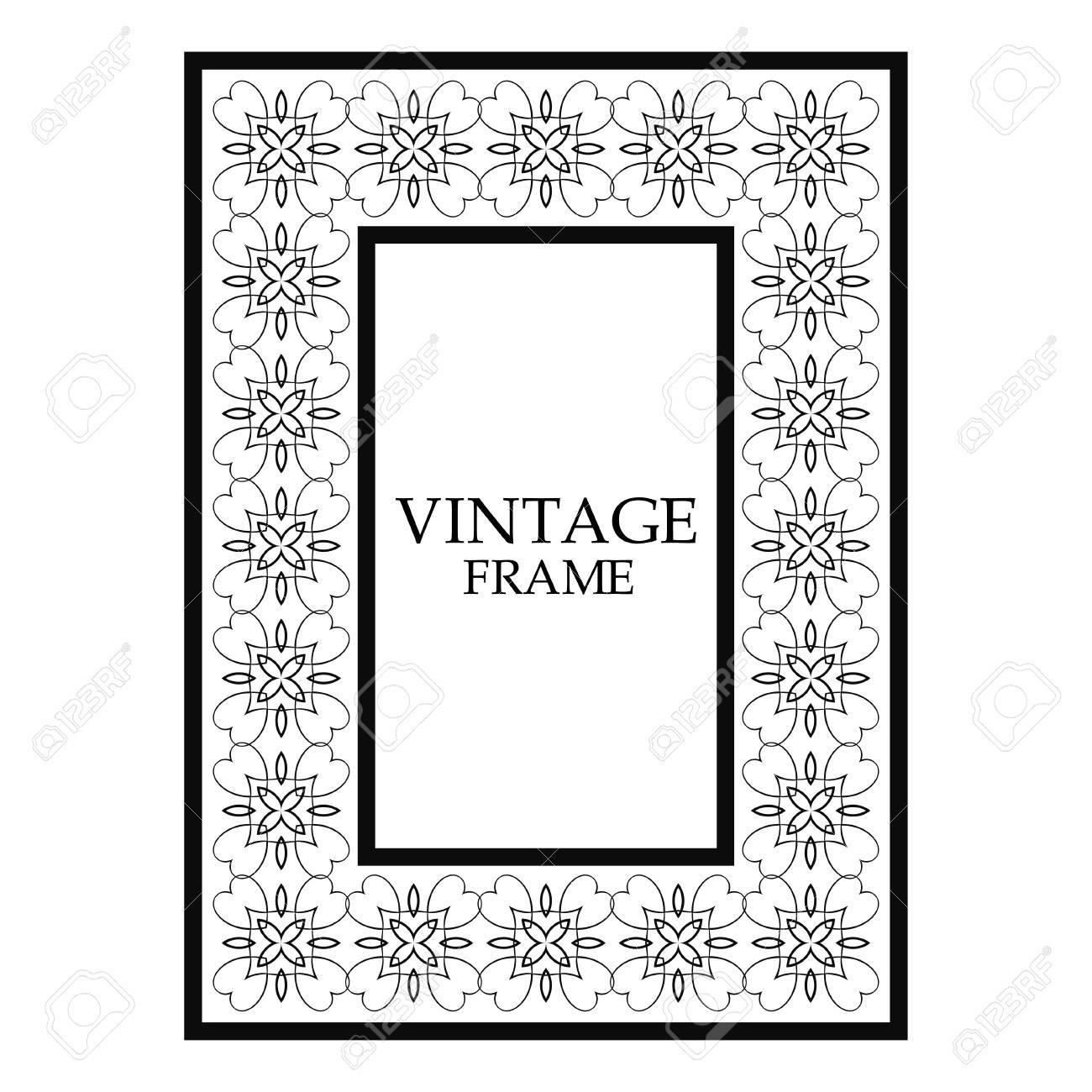 Vintage Ornamental Decorative Label Frame. Retro Template For ...