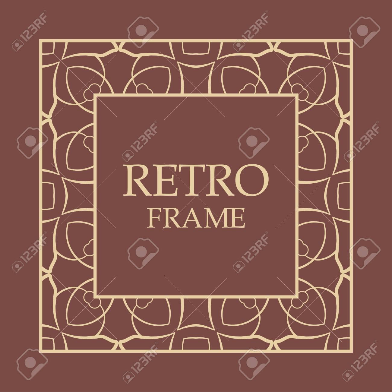Ornate Vintage Card Design With Ornamental Border Frame. Use ...