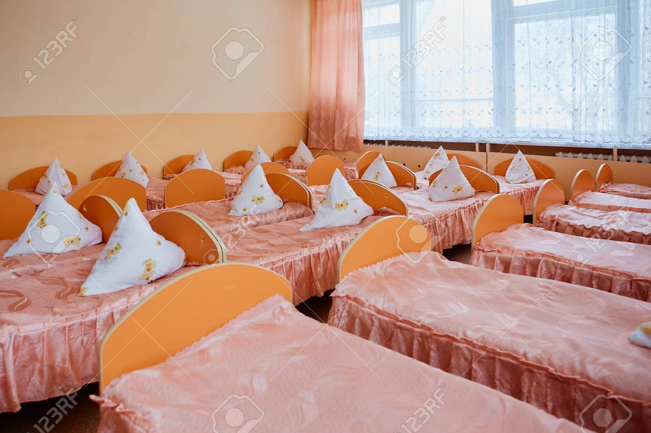 Cots In The Kindergarten Orphanage Or Boarding School Beds Stock Photo Picture And Royalty Free Image Image 115657421