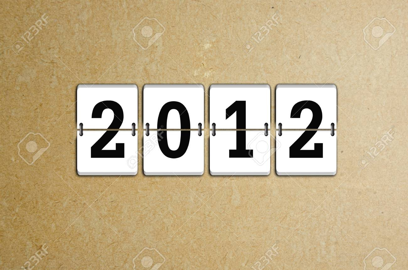 New Year arrival 2012 Stock Photo - 11598443