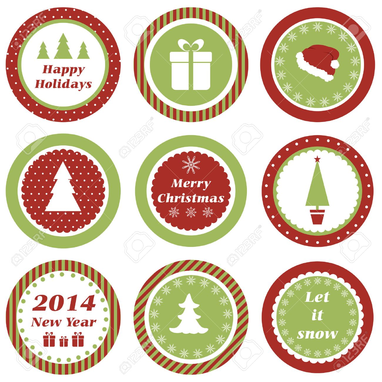 Christmas Cupcake Toppers.Cupcake Toppers For Christmas And New Year