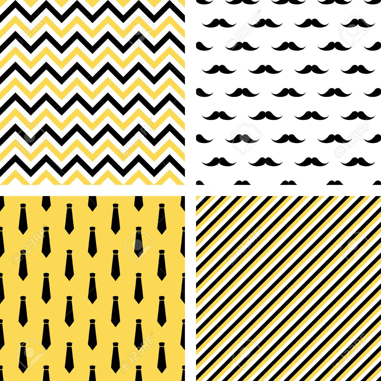 graphic relating to Printable Patterns named Fixed of printable vector seamless gentleman behaviors. Mustaches, neckties,..