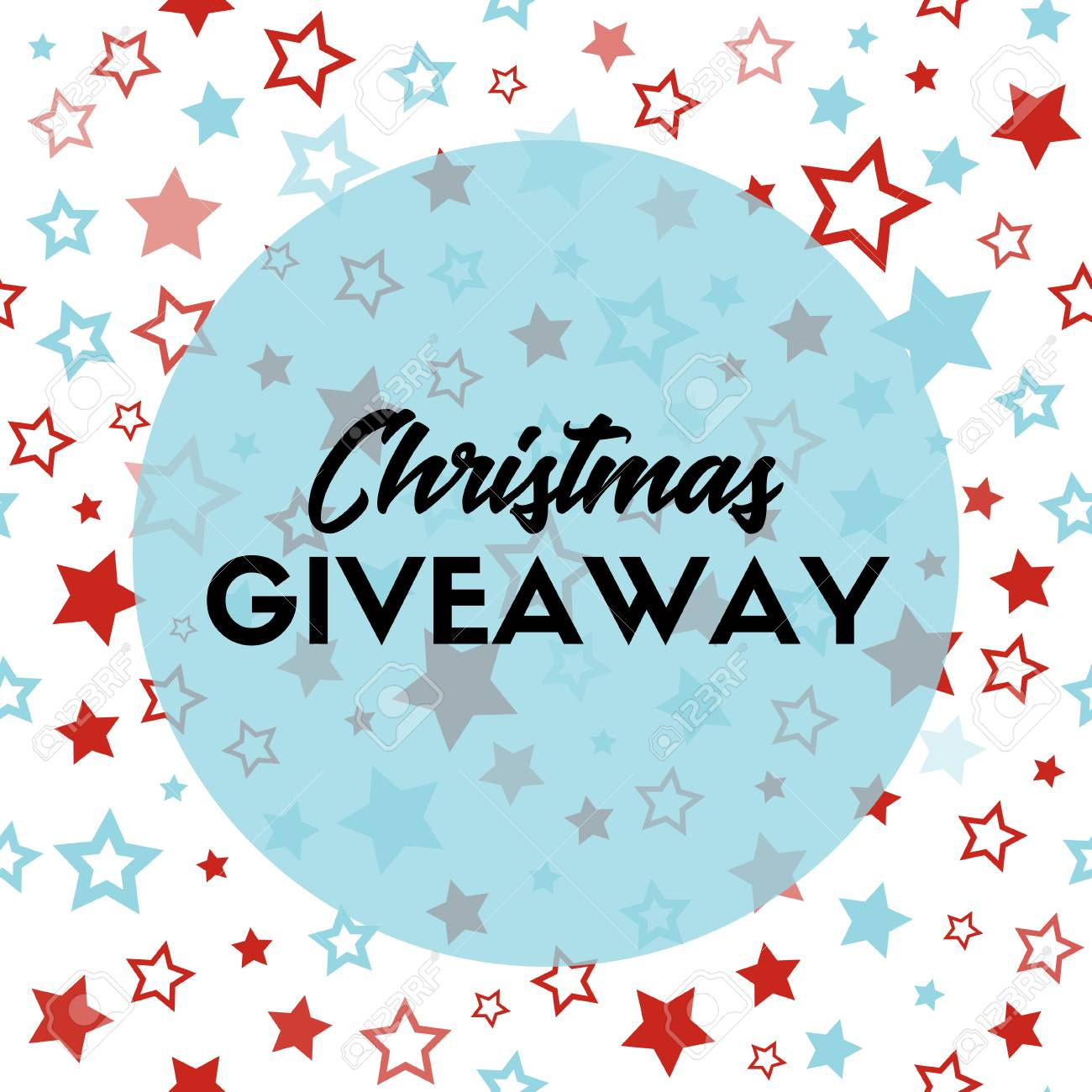 christmas giveaway banner template for blogs stock photo picture