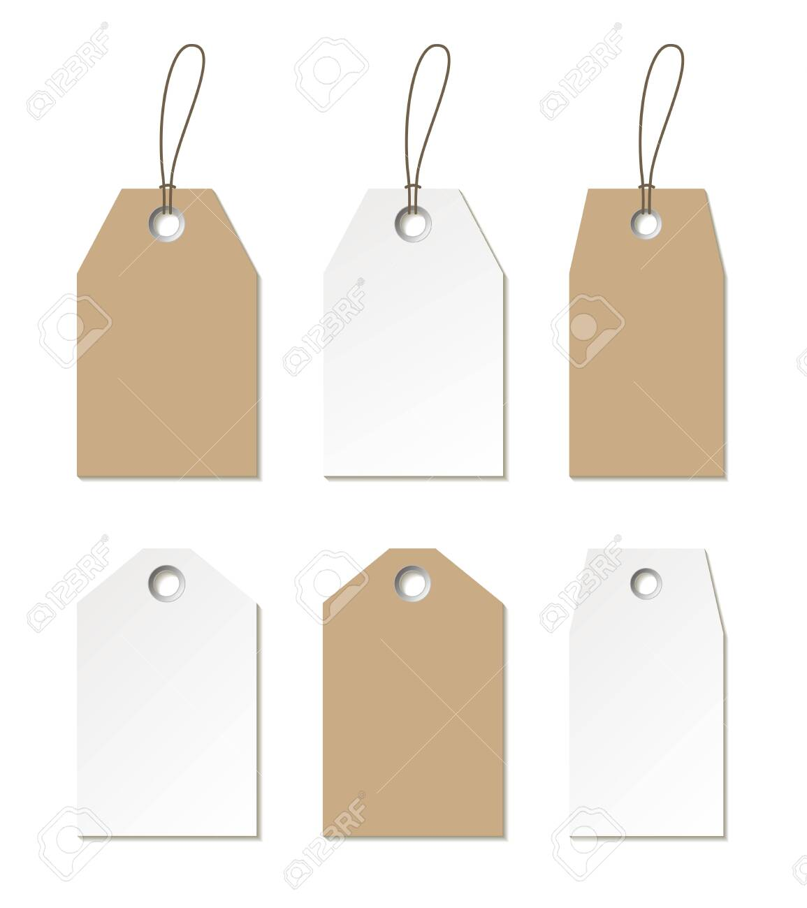 Tags mock up. Vector set of empty labels templates for design - 120483562