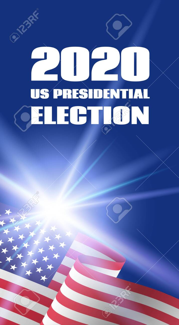 Vertical Banner Template For 2020 Us Presidential Election With Royalty Free Cliparts Vectors And Stock Illustration Image 129066830