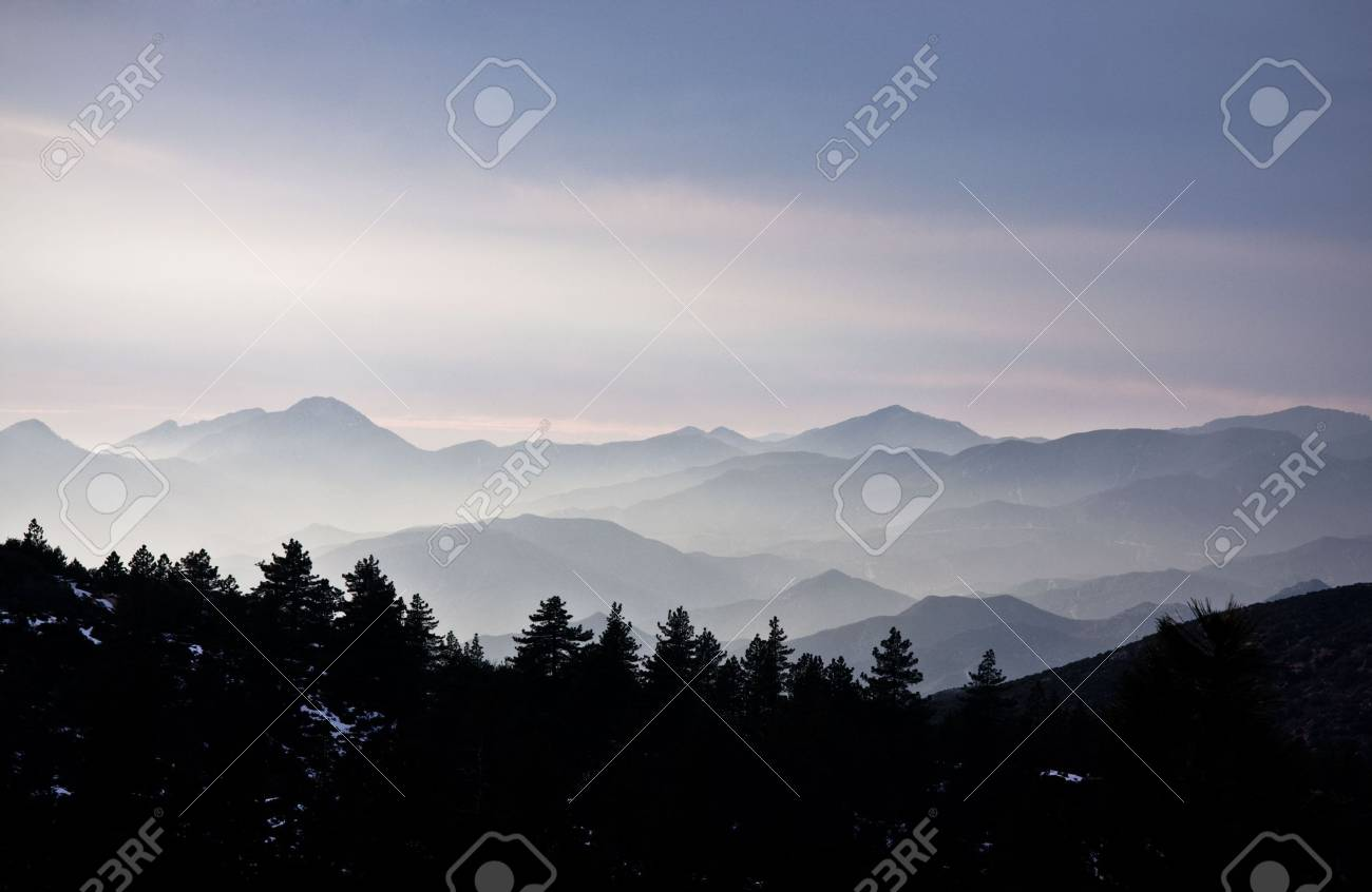 Picture of the mountains covered by mist Stock Photo - 2564711
