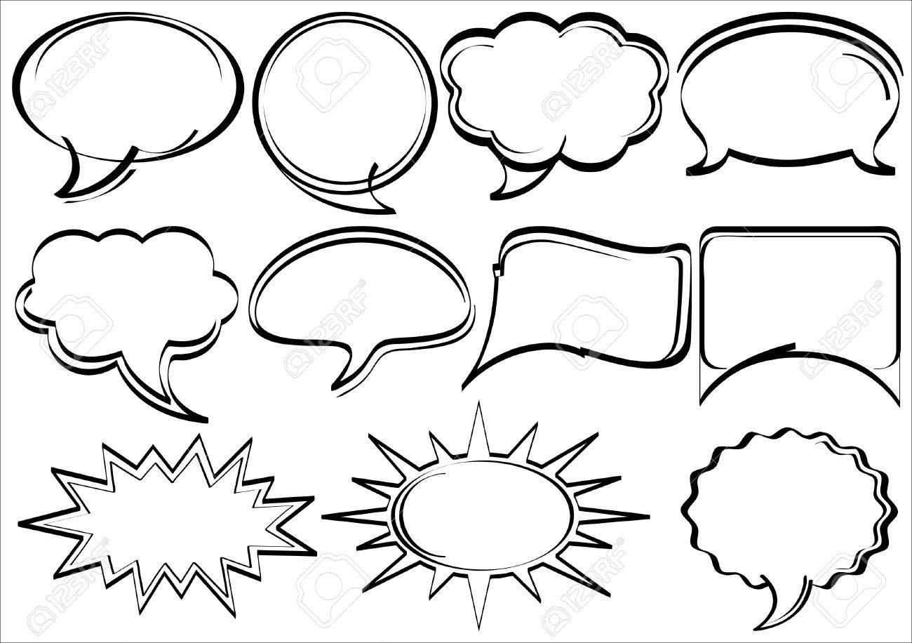 Speech Bubbles Comic Book Action Png