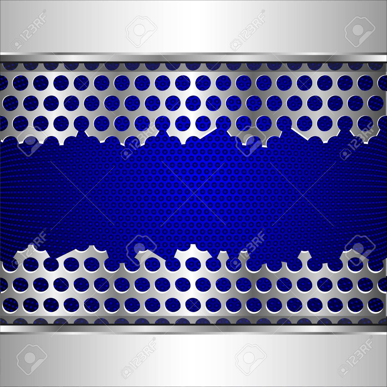 Vector background with damaged perforated metal plate Stock Vector - 11552225