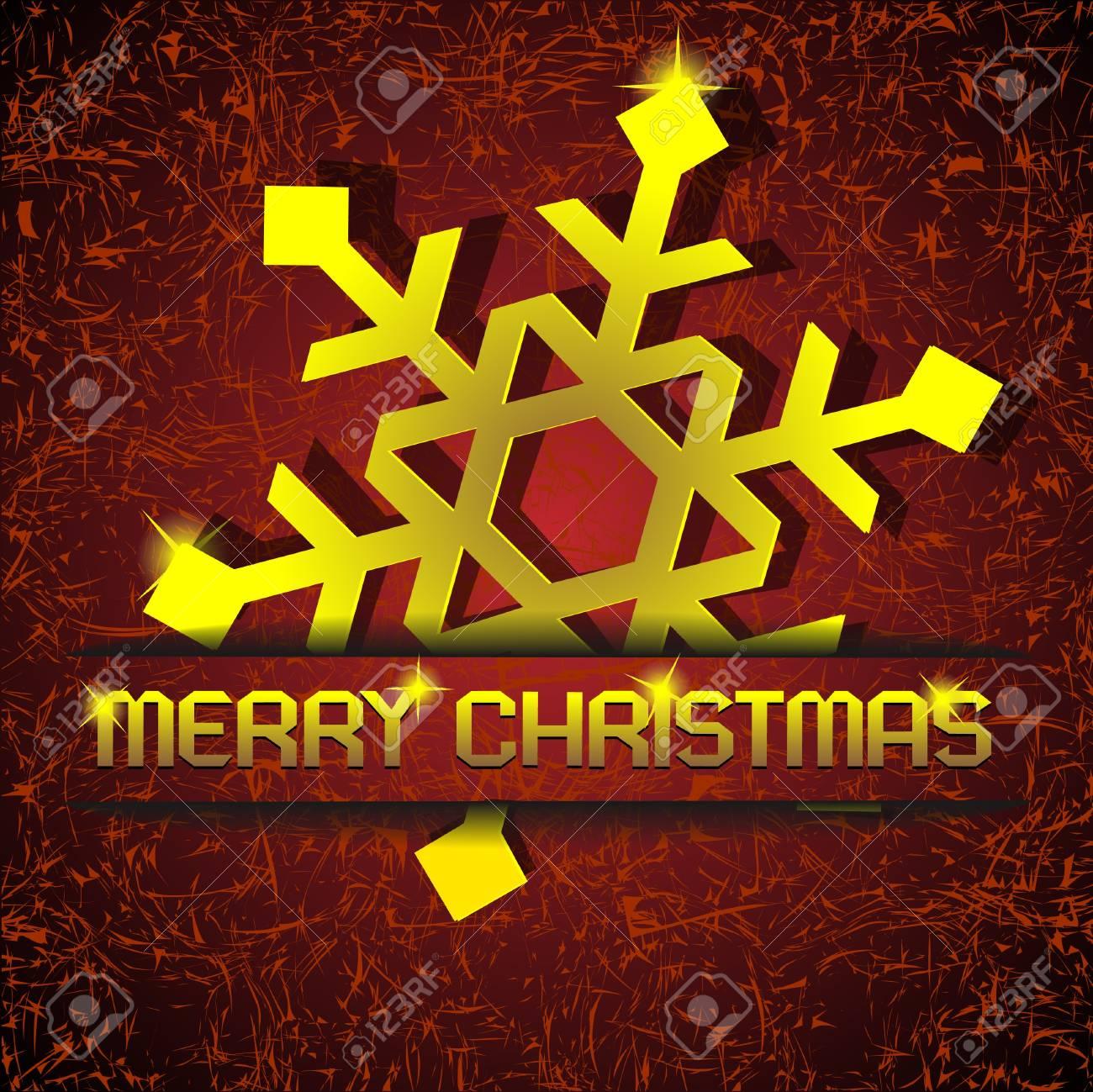 Christmas gold snowflake applique. Stock Vector - 11552269