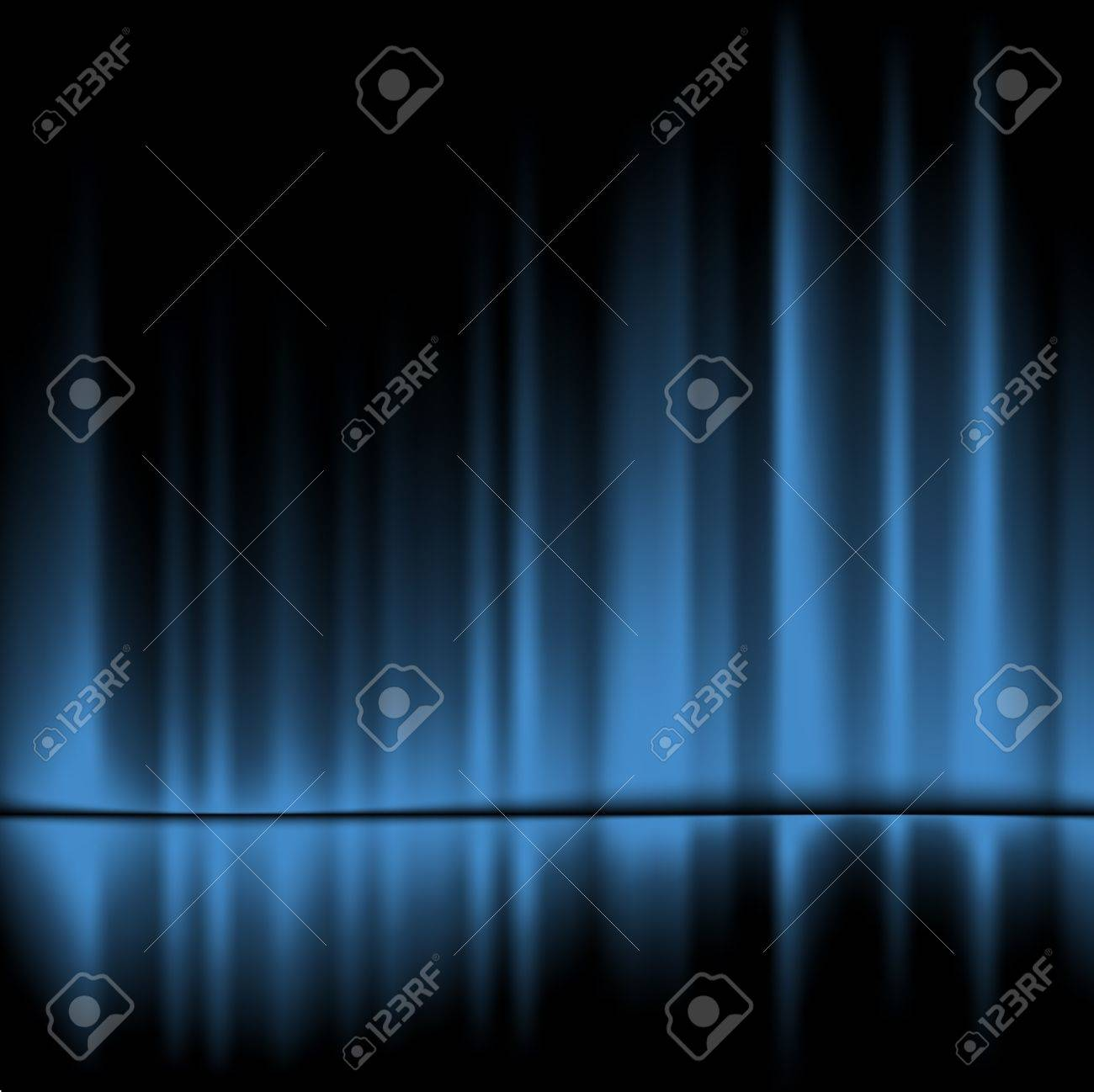 Blue drapes reflected.Vector background, 10eps Stock Vector - 11664225