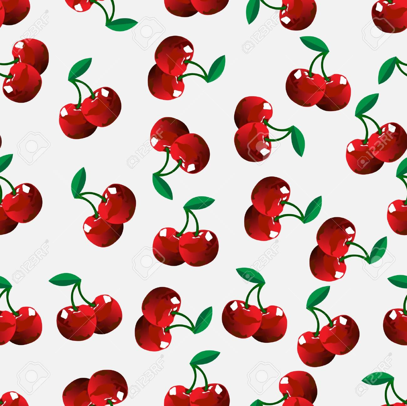 Cute Cherries Background Seamless Cherry Background