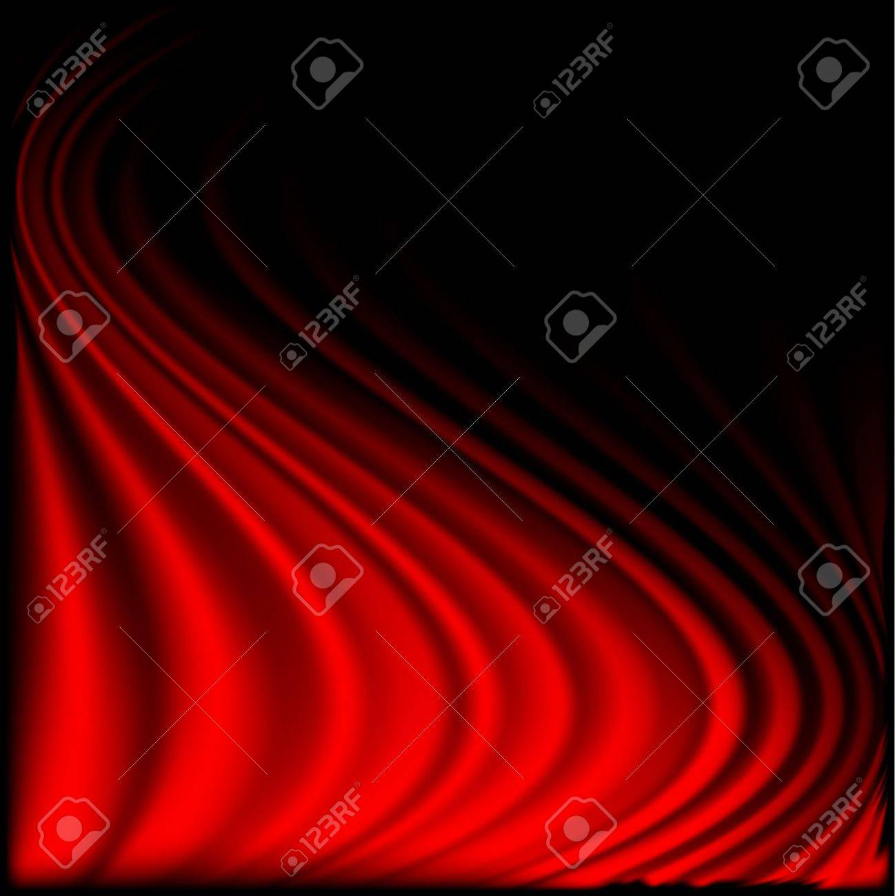 Red curtain background on black.Eps10 - 11812863