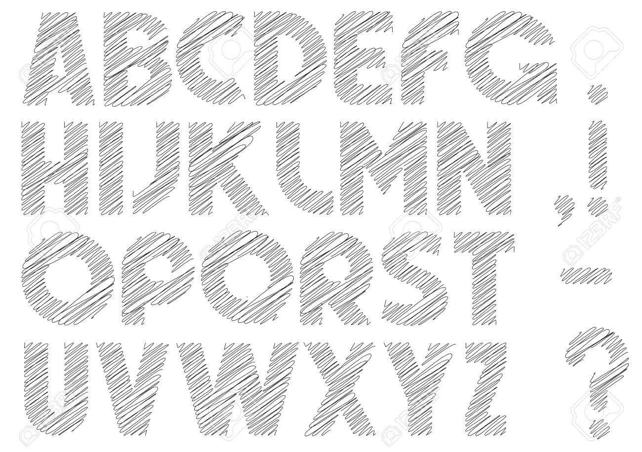 Scribble alphabet.Vector eps10 Stock Vector - 12002566