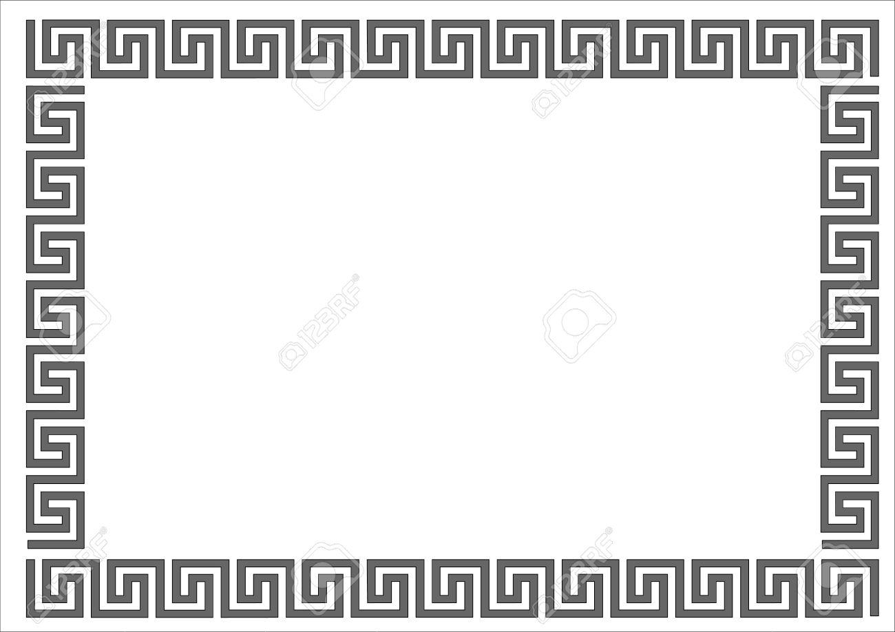 Griechisch Rahmen Auf Weißem Background.Greek Rahmen Auf Weißem ...