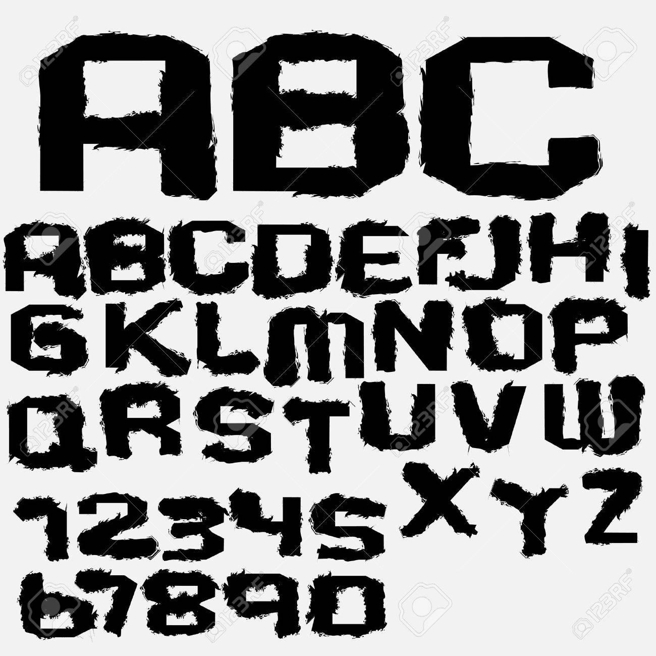 Vector ink alphabet Stock Vector - 12493814