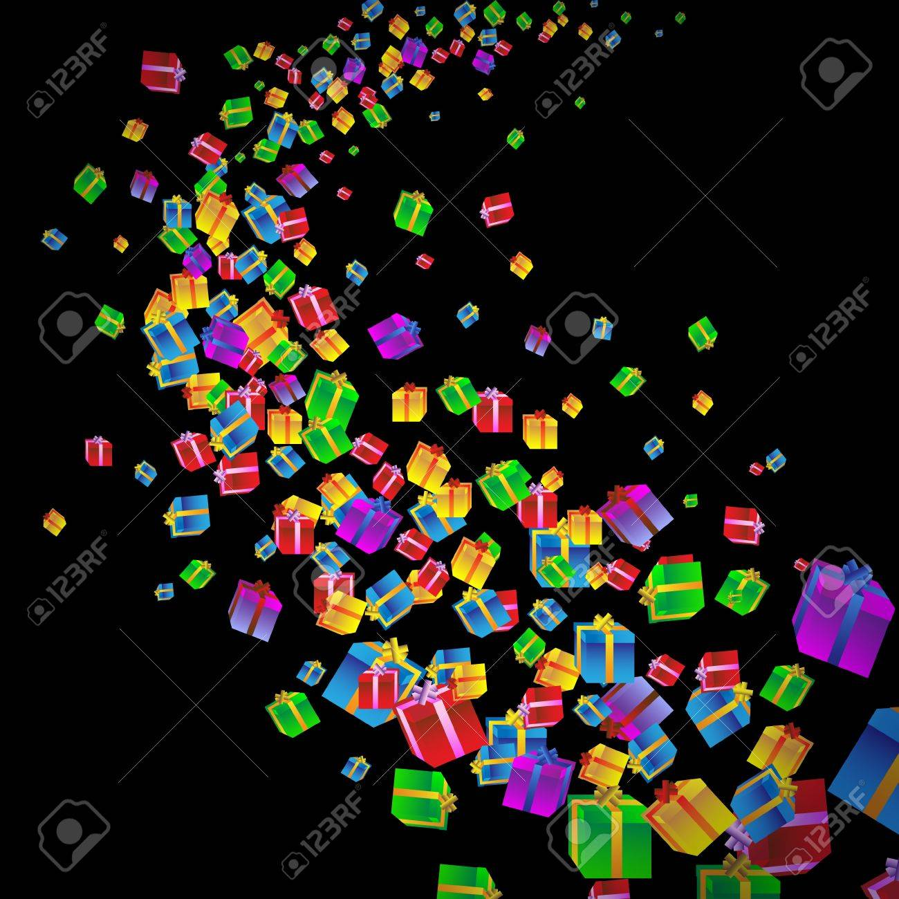 Festive background with colorful gift boxes.Vector eps10 Stock Vector - 12493938