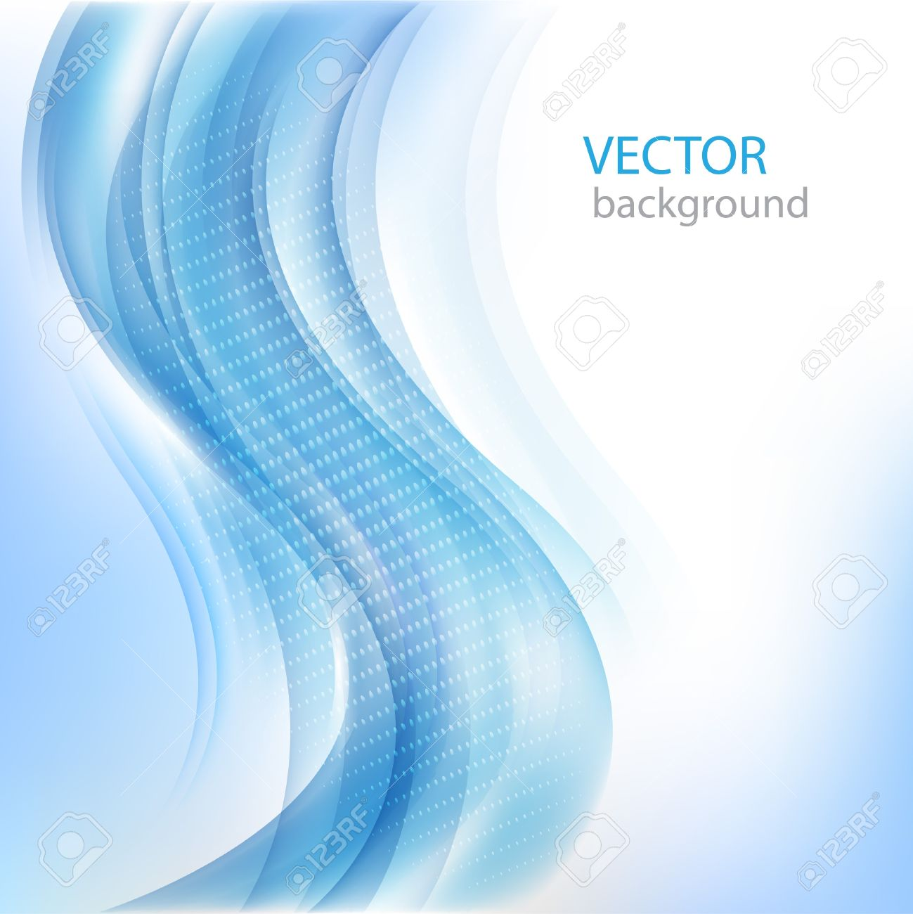 Shiny business background with blue wave Vector eps10 Stock Vector - 12493824