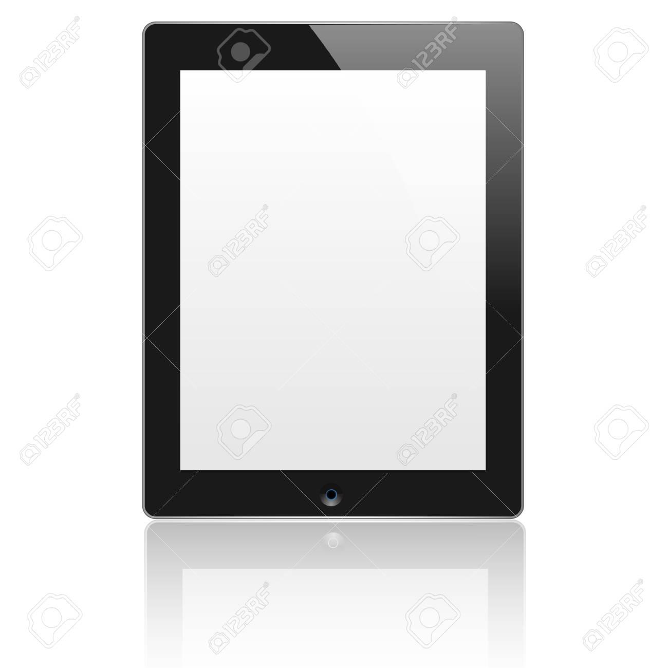 Black vector computer tablet. EPS10 Stock Vector - 12825682