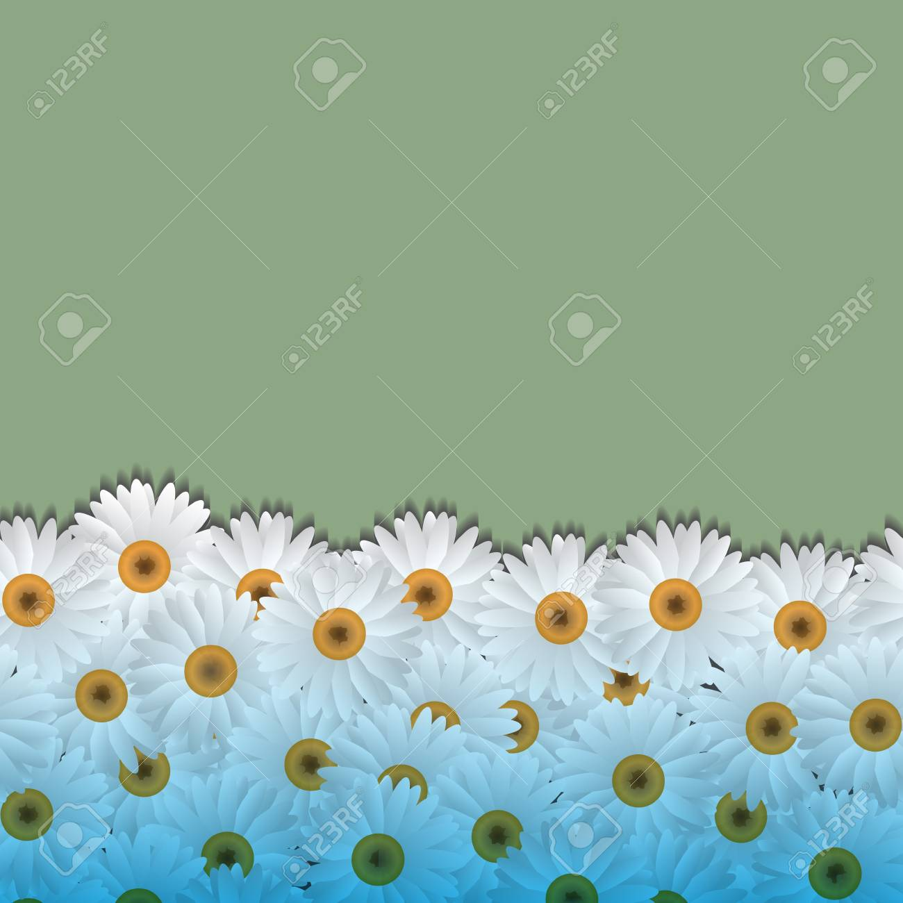 Floral background with camomiles.Vector eps10 Stock Vector - 12825732